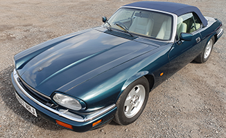 Blue Jaguar XJS Convertible