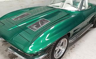 Green Chevrolet Corvette Stingray