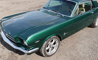 Dark Green Ford Mustang GT